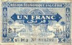 Algeria, 1 Franc, P-0101 H3