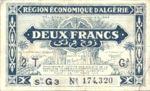Algeria, 2 Franc, P-0102 G3