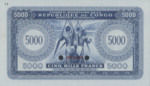 Congo Democratic Republic, 5,000 Franc, P-0003ct,CMRC B3t