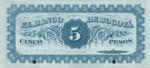 Colombia, 5 Peso, S-0292s