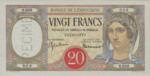 French Somaliland, 20 Franc, P-0007Bs1