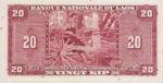 Laos, 20 Kip, P-0004a,B204a
