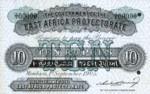East Africa, 10 Rupee, P-0001Bct