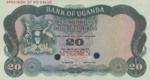 Uganda, 20 Shilling, P-0003ct,BOU B3t