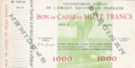 French Equatorial Africa, 1,000 Franc, P-0004s