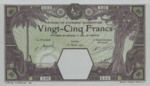 French West Africa, 25 Franc, P-0007Bas,BAO B3Dcs