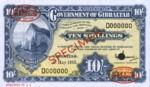 Gibraltar, 10 Shilling, P-0017s,GOG B15es