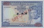 Mali, 1,000 Franc, P-0009s,BRM B9as