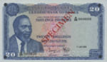 Kenya, 20 Shilling, P-0008s,CBK B8as