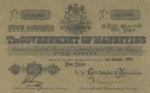 Mauritius, 5 Rupee, P-0016