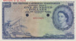 British Caribbean Territories, 100 Dollar, P-0012ct,CB B12t