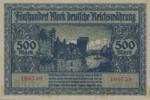 Danzig, 500 Mark, P-0014