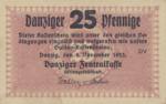 Danzig, 25 Pfennig, P-0046