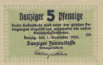 Danzig, 5 Pfennig, P-0044