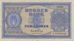 Norway, 5 Krone, P-0025d