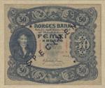 Norway, 50 Krone, P-0009r