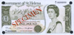 Saint Helena, 1 Pound, P-0006s,GOSH B2as
