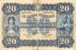Switzerland, 20 Franc, P-0021