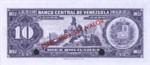 Venezuela, 10 Bolivar, P-0038s