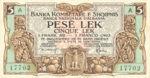 Albania, 5/1 Lek/Frank, P-0001a,BKS B1a