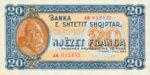 Albania, 20 Franc, P-0016