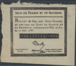 Isles of France and of Bourbon, 5 Livre, P-0012