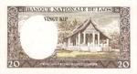 Laos, 20 Kip, P-0011b,B211b