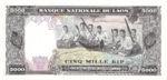 Laos, 5,000 Kip, P-0019a,B219a