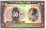 Belgian Congo, 50 Franc, P-0024a