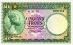 Belgian Congo, 50 Franc, P-0027b