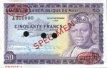 Mali, 50 Franc, P-0006s