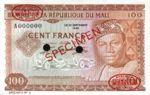 Mali, 100 Franc, P-0007s