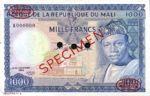 Mali, 1,000 Franc, P-0009s