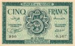Algeria, 5 Franc, P-0091
