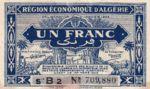 Algeria, 1 Franc, P-0098a B2