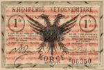 Albania, 1 Franc, S-0144a