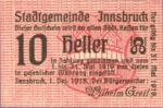 Austria, 10 Heller, FS 409a