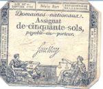 France, 50 Sol, A-0056