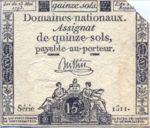 France, 15 Sol, A-0069b