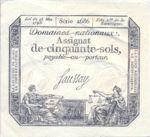 France, 50 Sol, A-0070b