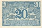 Austria, 20 Heller, FS 692Ia