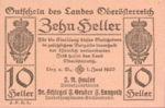 Austria, 10 Heller, FS 692IIb