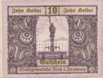 Austria, 10 Heller, FS 834IIc