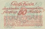 Austria, 50 Heller, FS 1014b