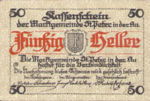 Austria, 50 Heller, FS 924b