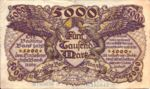 German States, 5,000 Mark, S-0909