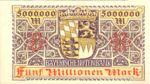 German States, 5,000,000 Mark, S-0932