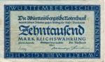 German States, 10,000 Mark, S-0982