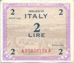 Italy, 2 Lira, M-0011a