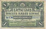 Latvia, 1 Ruble, P-0002a